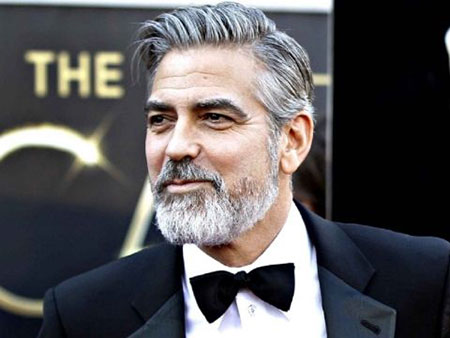 George Clooney, Beard Clooney Picture Face