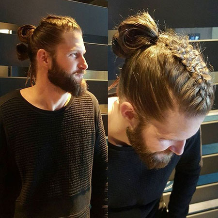 Viking Braid, Jamie Bun Man Hair
