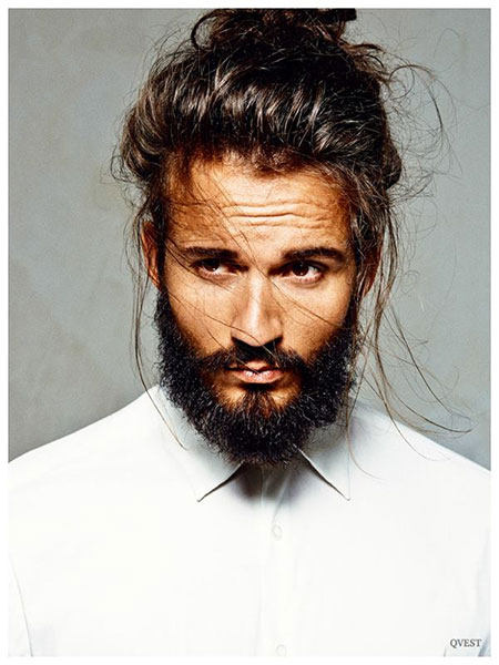 Men Long Hair Bun, Long Latest One Model