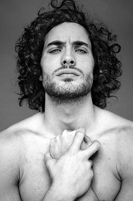 Curly Long Aidan Harington
