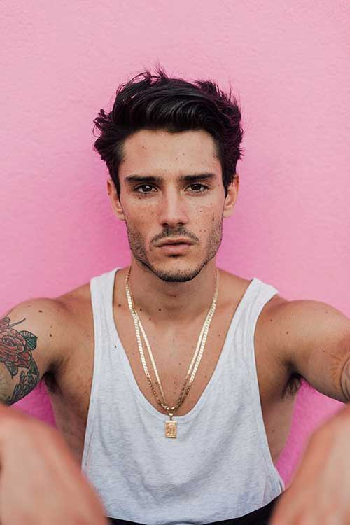 Long Top Short Sides Hairstyles for Men-13