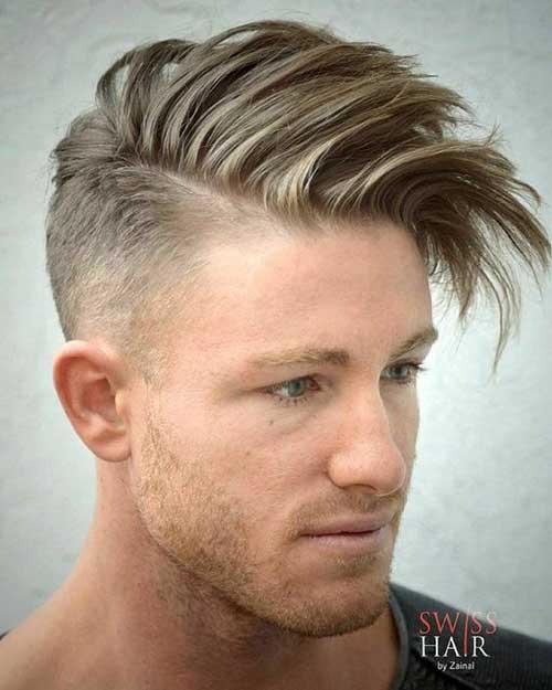 Lange Spitze Kurze Seiten Frisuren für Männer-15