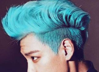 Men blue hair styles