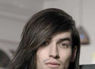 Mens long straight hairstyles 2013
