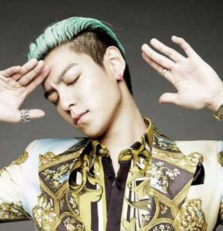 Men green hair color