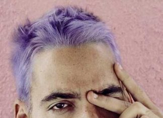 Men with lavender hair