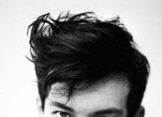 Messy hairstyle for men 2013