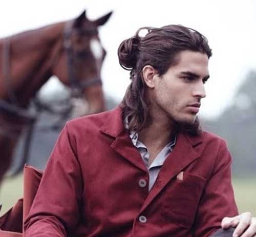 Hairstyles for Men with Long Hair with Bun