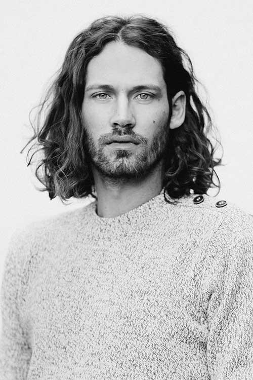 Wavy Long Curly Hairstyles Men 35