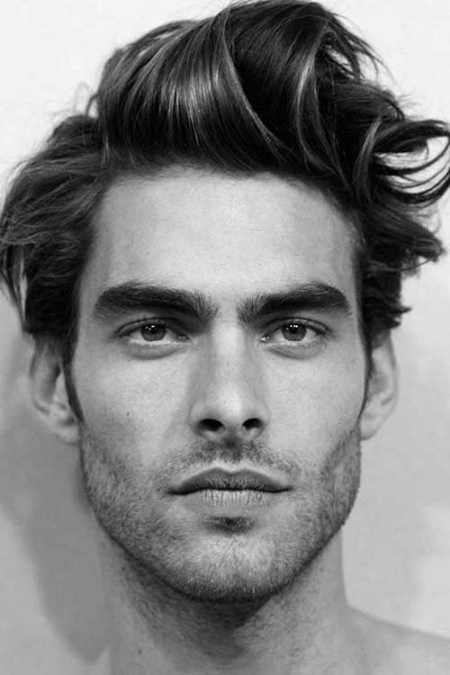 mens haircuts for long faces 15 hairstyles for with faces mens hairstyles 2018 2599 | Mens Haircut for Long Faces