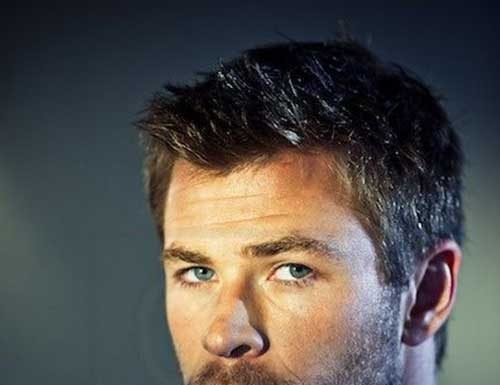 Chris Hemsworth Male Celebrities With Short Hair