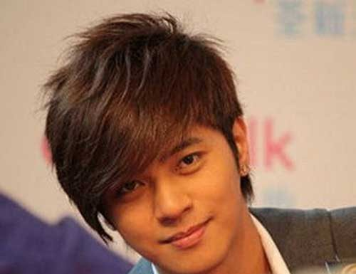 Korean Mens Side Swept Hairstyles