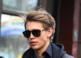 Blonde Layered Hairstyle Men