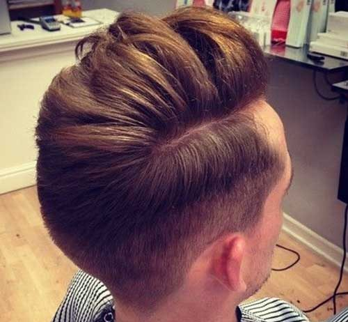 Men Pompadour Hairstyle Back