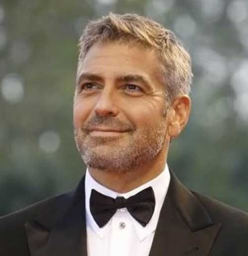 Best George Clooney Short Hair Mens Hairstyles