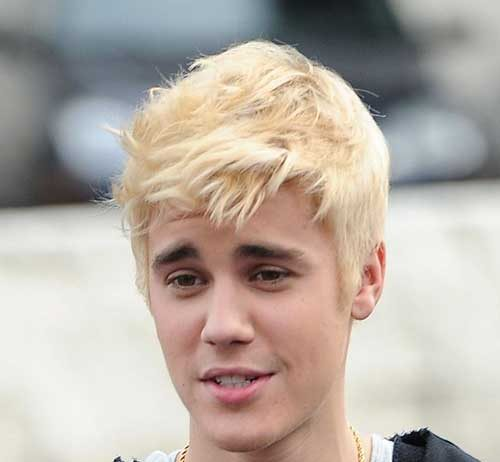 Justin Bieber Blond Hair Dye