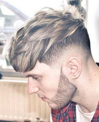 Layered Blonde Hair Men