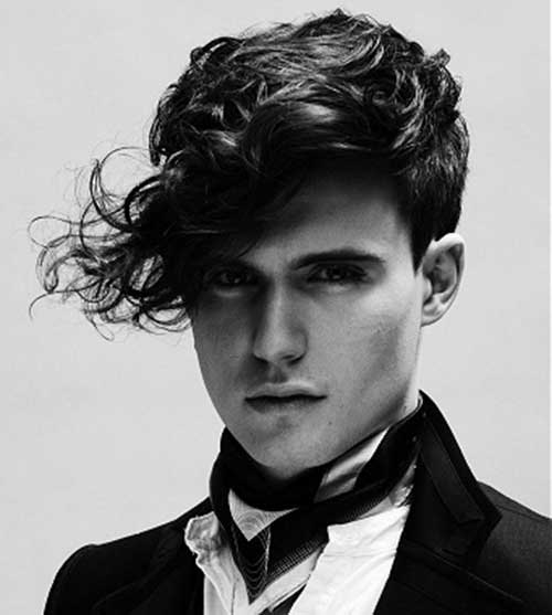 haircuts for men with long curly hair wavy undercut 3127 | Long Top Haircuts for Wavy Hair Men