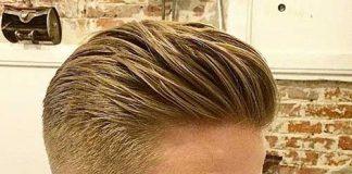 New Mens Hair Slicked Back
