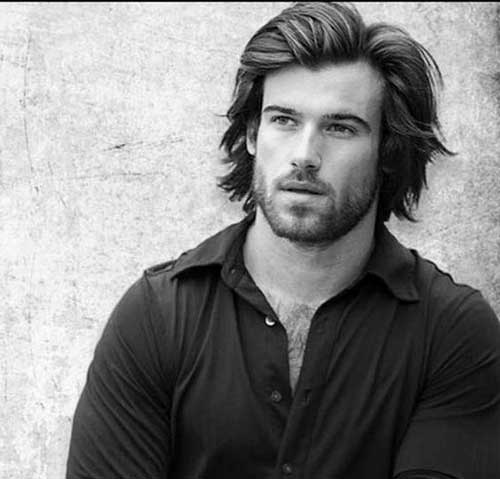 men hair styles long 15 stylish with hairstyles mens hairstyles 2018 3123 | 7.Men with Long Hairstyles