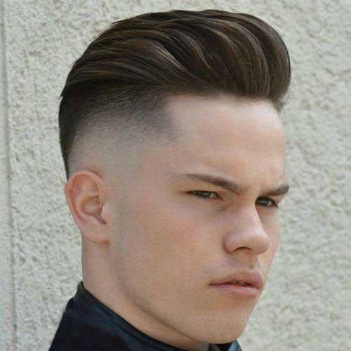 Lange Spitze Kurze Seiten Frisuren für Männer-12