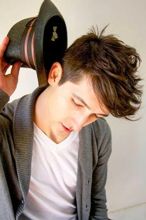 Lange Spitze Kurze Seiten Frisuren für Männer-14