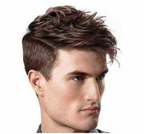 Lange Spitze Kurze Seiten Frisuren für Männer-8