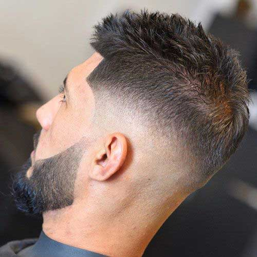Mens Fade Spiky Haircut-8