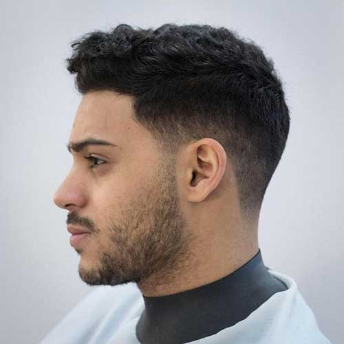 Best Haircuts for Men with Dark Brown Curly Hair-9