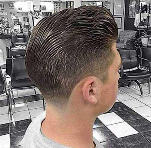 Mens Coupe de cheveux, Vue de Dos-11
