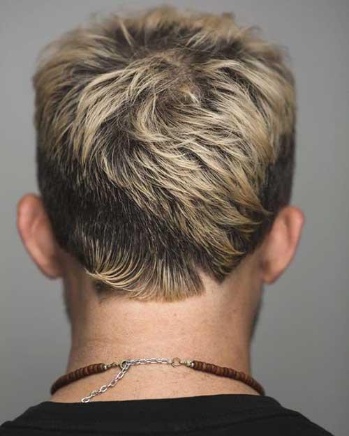 Mens Coupe de cheveux, Vue de Dos-19