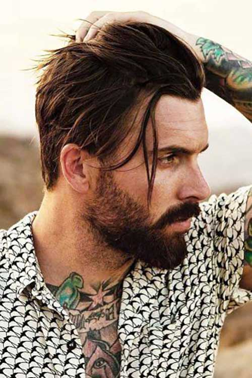 Medium Length Hairstyles Men-8