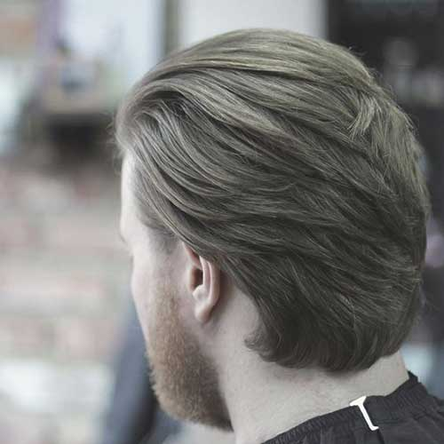 Mens Coupe de cheveux de l'Arrière Vue-8