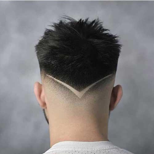 Mens Coupe de cheveux en Arrière