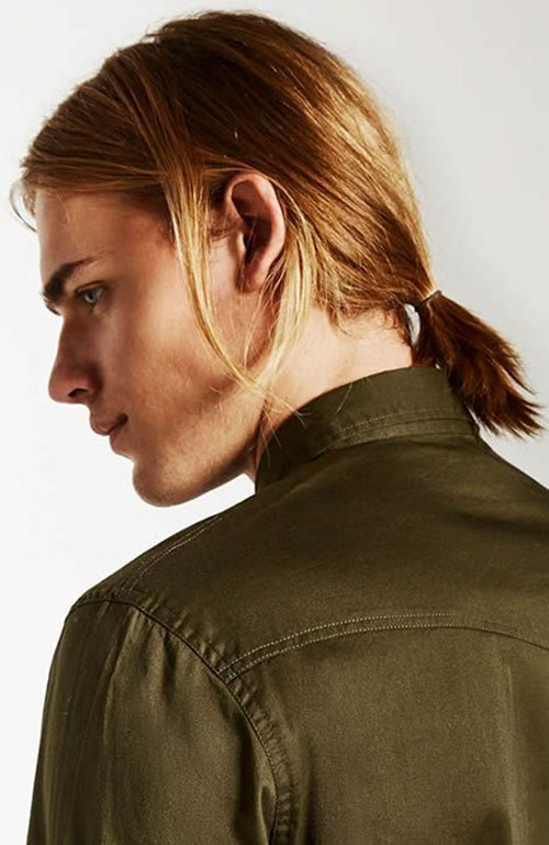 Man Ponytail Hairstyle