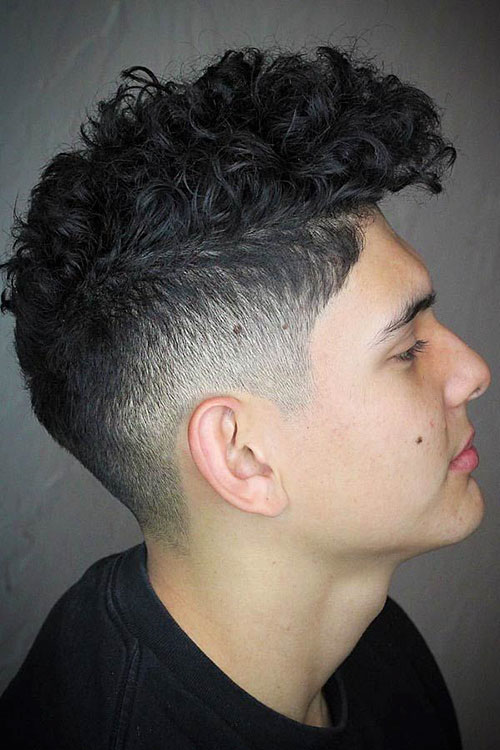 Mens Curly Hair Fade