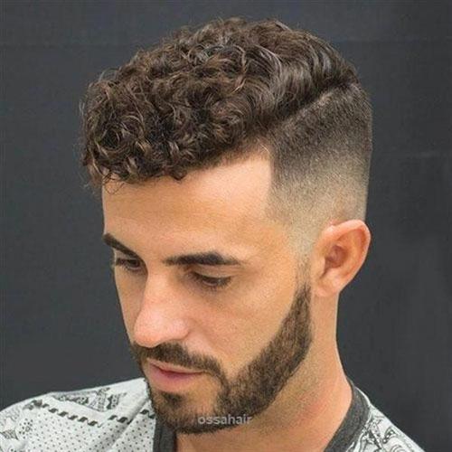 Temp Fade Curly Hair