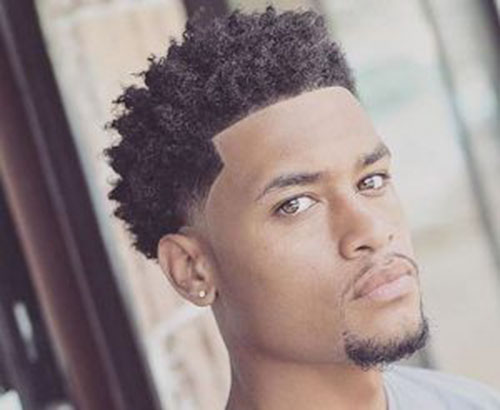 Mens Curly Hair Fade