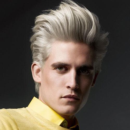 Platinum Blonde Mens Hairstyles