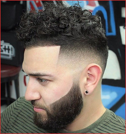Fade Haircut Curly Hair