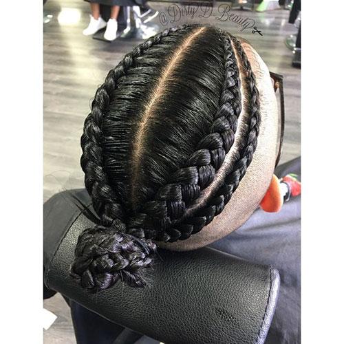 Peinados con dos trenzas para hombres
