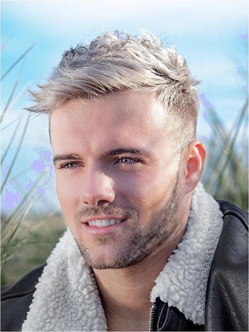 Platinum Blonde Hair Men