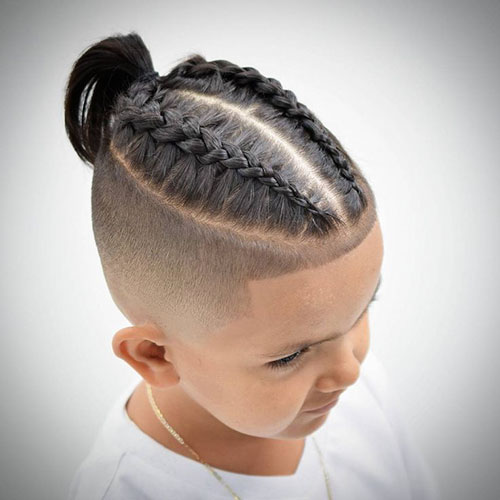 Two Braids Mens Hairstyle