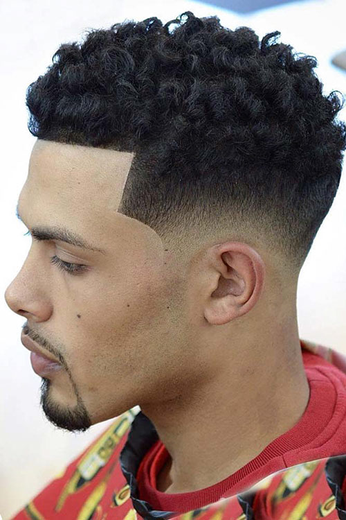 30 Awesome Examples of Curly Hair Fade The Best Mens