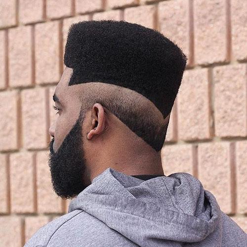 Corte de pelo de fondo plano