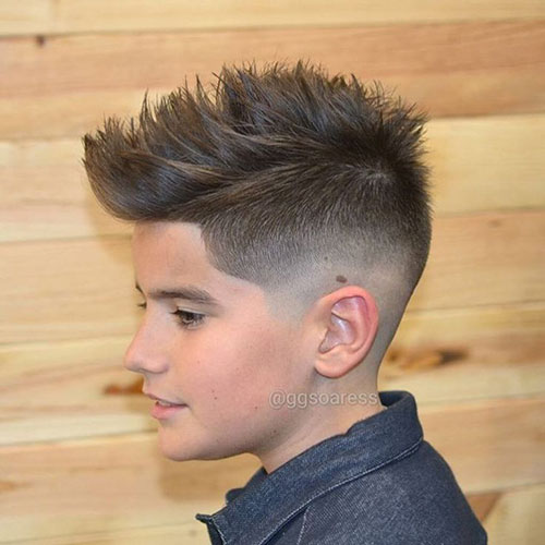 Mohawk Fade Style For Kids