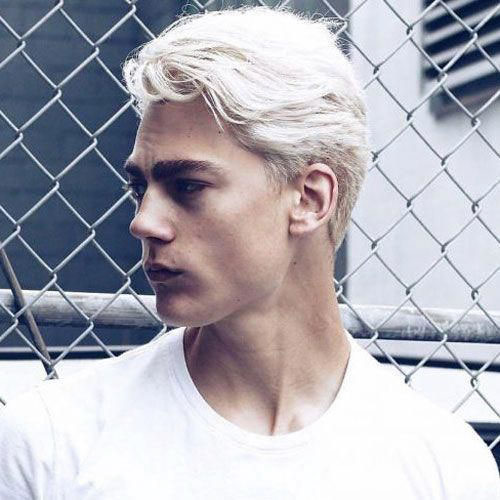 Mens Hair Platinum Blonde