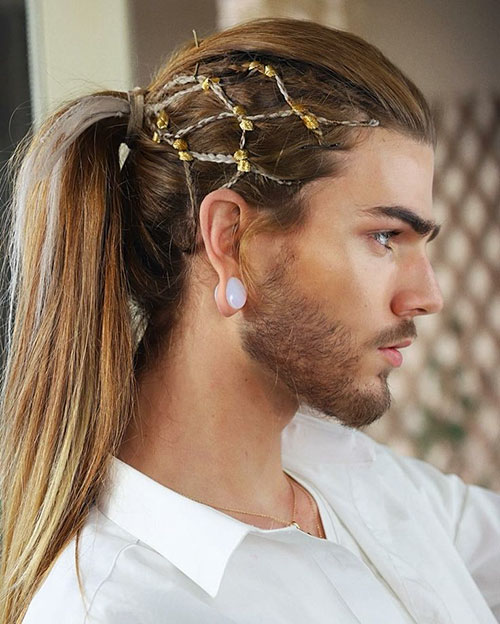 Hairstyle Man Ponytail