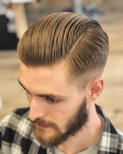 Mens Short Comb Over